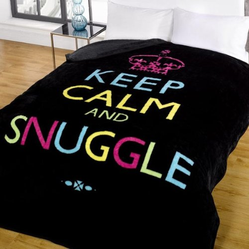 Dreamscene Keep Calm And Snuggle Mink Faux Fur Throw Black 40 X 40 Magnificent Keep Calm And Throw A Blanket On It