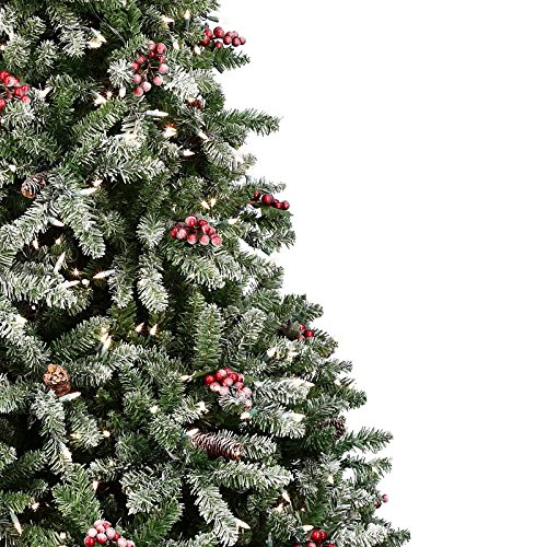12 Ft Pre Lit Christmas Tree Costco: The Christmas Workshop 200 LED Pre Lit Frosted Berry