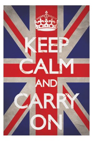 1art1 48799 keep calm and carry on union jack poster 91 x 61
